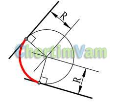 Геометрические построения сопряжения прямых